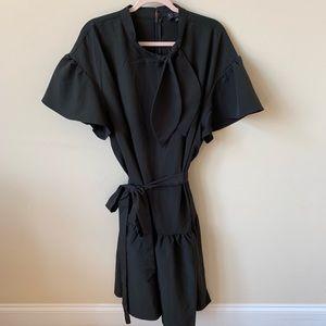 New! Eloquii flutter sleeve tie neck dress #565